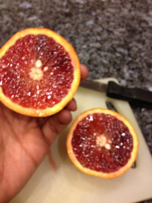 My organic blood orange