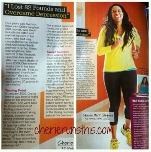Fitness Magazine I Did It April 2013 Cherie Steffen CherieRunsThis